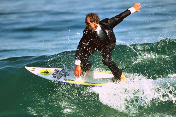 Surfer Wearing Suit