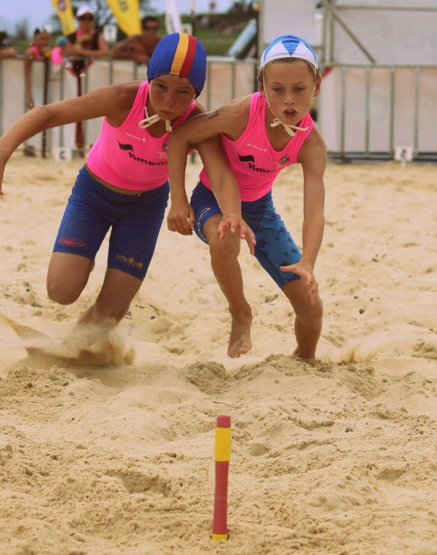 Nippers playing Beach Flags